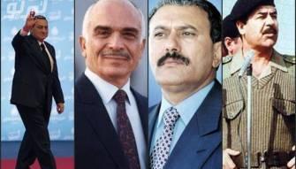 صور نادرة لـ 4 رؤساء دول عربية على متن سيارة واحدة!