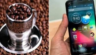 القهوة لشحن الهاتف!