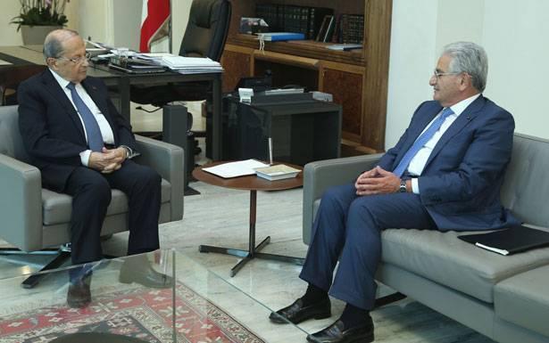 حاكم مصرف لبنان رياض سلامة ورئيس جمعية المصارف سليم صفير حدّا من تداعيات قرار  وضع بنك «الجمال» على لائحة العقوبات
