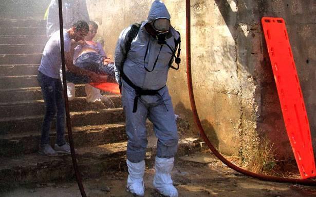 «هجوم كيميائي» في كفرفالوس... مناورة تحاكي عملا حربيا بمواد اشعاعية